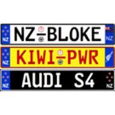 Custom New Zealand Euro Style License Plate