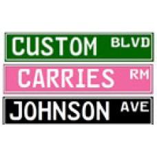 Custom Embossed Metal Street Sign