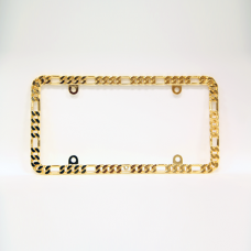 Gold Small Chain Link Metal License Plate Frame
