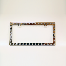 Spiked Chrome License Plate Frame