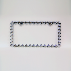 Hearts Chrome License Plate Frame