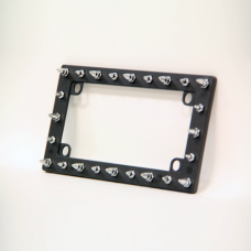 Spiked Black Motorcycle License Plate Frame