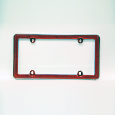 Red Reflective License Plate Frame