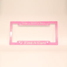 Find A Cure Pink License Plate Frame