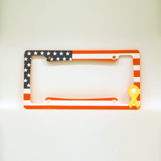 American Flag Yellow Ribbon License Plate Frame