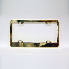 Blank Gold Plated License Plate Frame