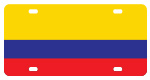 Colombia Flag License Plates