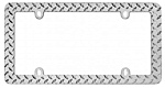 Diamond Plated License Plate Frames