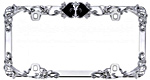 Flower License Plate Frames