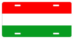 Hungary Flag License Plates