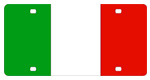 Italy Flag License Plates