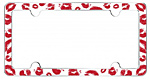Lips License Plate Frames