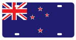 New Zealand Flag License Plates