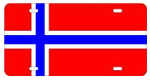 Norway Flag License Plates