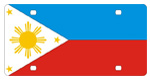 Philippines Flag License Plates