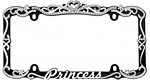Princess License Plate Frames