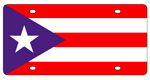 Puerto Rico Flag License Plates