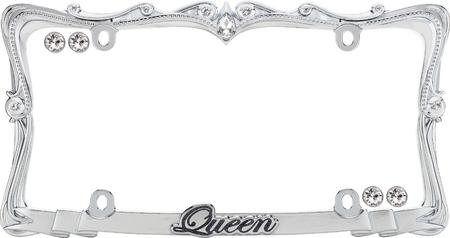 princess license plate frames queen