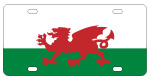 Wales Flag License Plates