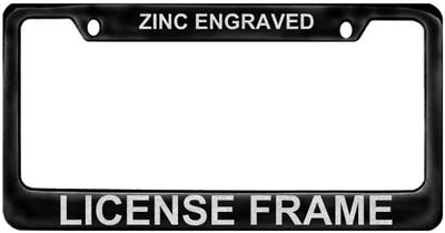 Zinc Laser  sc 1 th 163 & Custom License Plates and Personalized License Plate Frames