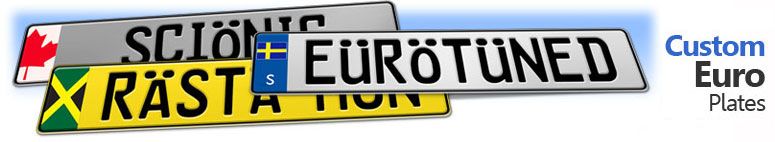 Design a custom European license plate