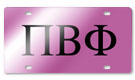 Premium quality Greek symbol license plates represent your sorority or frat!