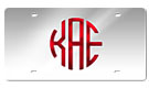 Our original acrylic plates are laser cut with your custom monogram.