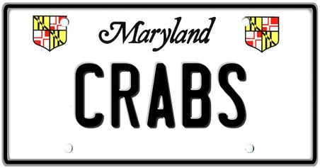 Maryland State License Plate 2
