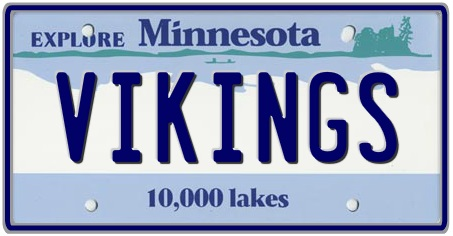 Minnesota State License Plate