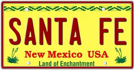 New Mexico State License Plate