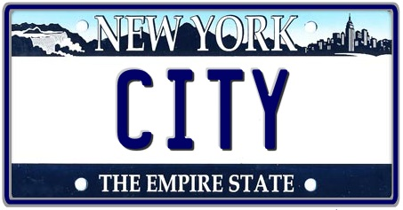 New York State License Plate 2