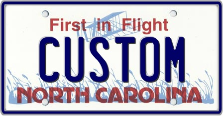 North Carolina State NC License Plate