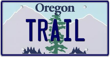Oregon State License Plate