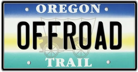 Oregon State License Plate 2