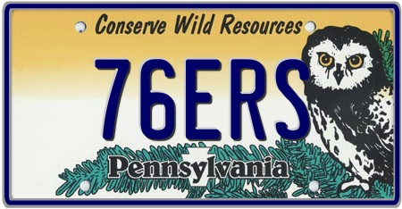 Pennsylvania State License Plate