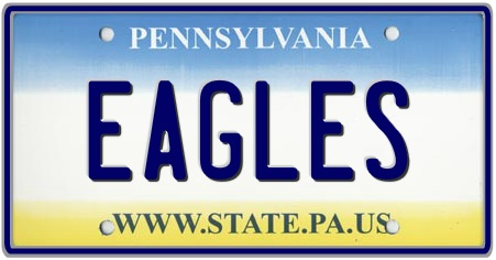 Pennsylvania License Plates Custom 3 State Plate
