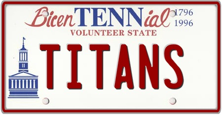 Tennessee License Plates Custom State Plate