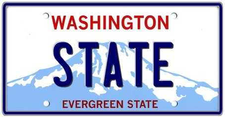 Washington State License Plate